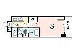 サムティ江坂垂水町レジデンス[3階]の間取り