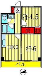 巳波マンション[504号室]の間取り