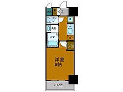 Osaka Metro中央線 弁天町駅 徒歩10分の賃貸マンション 11階1Kの間取り
