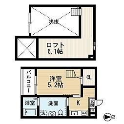 シェモワ笹塚[205号室]の間取り
