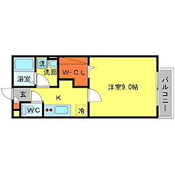 プレミール新稲[2階]の間取り