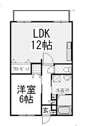 サンホワイトD201[1階]の間取り