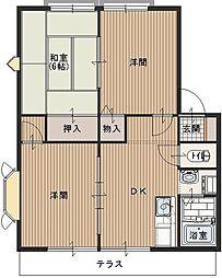 埼玉県川越市今成2丁目の賃貸アパートの間取り