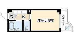 愛知県名古屋市瑞穂区津賀田町2の賃貸マンションの間取り