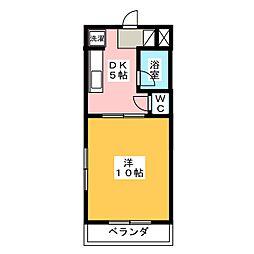 クラウディア[3階]の間取り