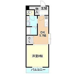 茨城県守谷市本町の賃貸マンションの間取り