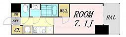 エスプレイス大阪ガルフレジデンス 8階1Kの間取り