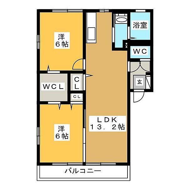 マメゾン六番館[1階]の間取り