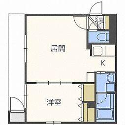 ロイヤルコトニ[4階]の間取り