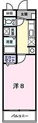 ハイツHIRO[1階]の間取り