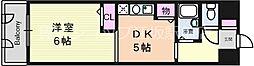 大阪府大阪市淀川区東三国3丁目の賃貸マンションの間取り