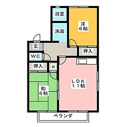 フレグランス小野 A棟[1階]の間取り