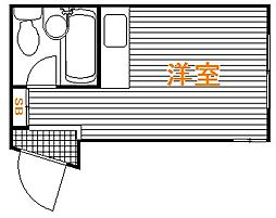 東京都板橋区若木2丁目の賃貸アパートの間取り