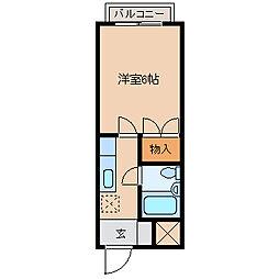 姉崎グリーンハイツII[104号室]の間取り