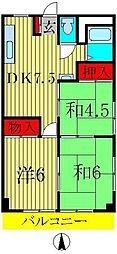湯浅コーポ[2階]の間取り