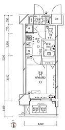 ガリシア早稲田[8階]の間取り