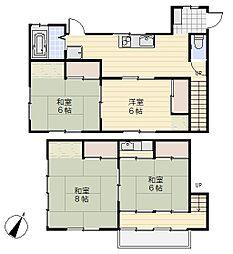 [一戸建] 神奈川県横須賀市平作6丁目 の賃貸【/】の間取り