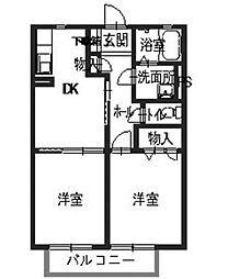 エイトタウン585[2階]の間取り
