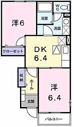 ボヌールMIII[0103号室]の間取り