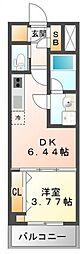 江坂プライマリーワン[9階]の間取り