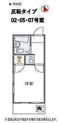 神奈川県相模原市中央区清新6丁目の賃貸アパートの間取り