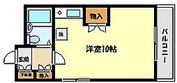 兵庫県神戸市東灘区御影3丁目の賃貸マンションの間取り