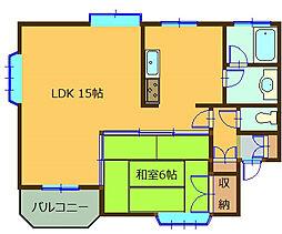 サンコーポ宮崎[1階]の間取り