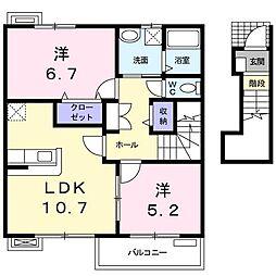 グレイスフル熊野[0202号室]の間取り