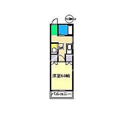 ピュアコート朝倉[1階]の間取り