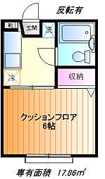対山ハイム[1f号室]の間取り