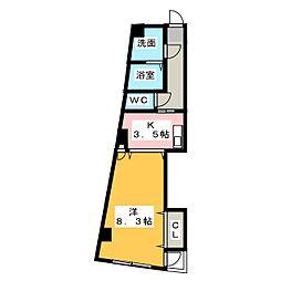グランデ城西[2階]の間取り