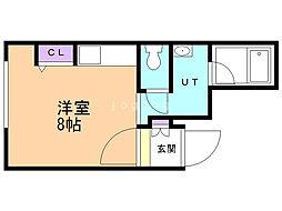 M'sII 5階ワンルームの間取り