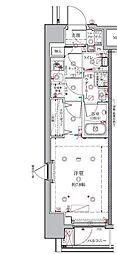 東京メトロ有楽町線 月島駅 徒歩2分の賃貸マンション 5階1Kの間取り