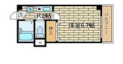 兵庫県神戸市須磨区多井畑出口の賃貸マンションの間取り