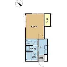 新潟県新潟市中央区鐙西2丁目の賃貸アパートの間取り