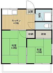 藤田荘[2階]の間取り