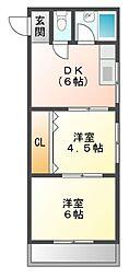 第6土居マンション[1階]の間取り