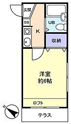 ハイツ大和田[1階]の間取り