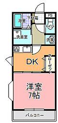 MANSION・AOKI[205号室]の間取り