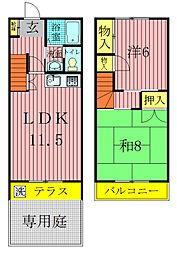 [テラスハウス] 千葉県流山市加4丁目 の賃貸【/】の間取り