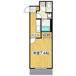 メゾンカミング[4階]の間取り
