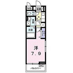埼玉県和光市本町の賃貸アパートの間取り