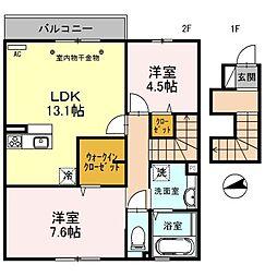 Lumie Court[2階]の間取り