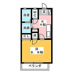 フローラルI[2階]の間取り