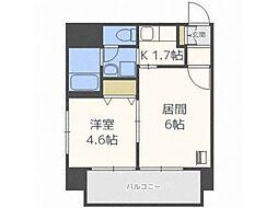 北海道札幌市中央区南四条西21丁目の賃貸マンションの間取り