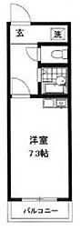 神奈川県横浜市鶴見区北寺尾2の賃貸マンションの間取り