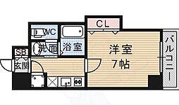ビガーポリス133宝塚 12階1Kの間取り