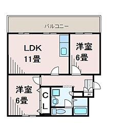 町田コープタウン13号棟[4階]の間取り