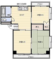 ロイヤルセピア1[1階]の間取り