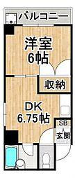 エステート野田[6階]の間取り